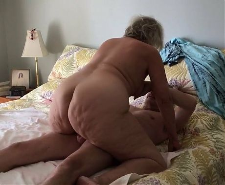 PAWG Granny with cauliflower ass riding cock