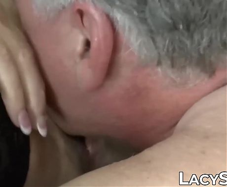 Busty GILF Lacey Starr facialized after doggystyle pounding