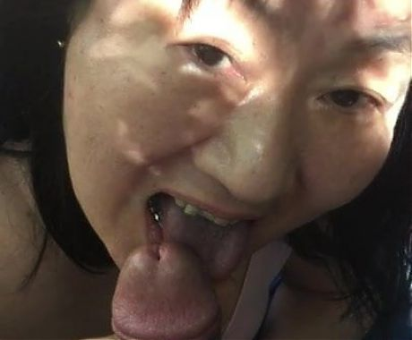 Japanese Granny Licking Cock Outside
