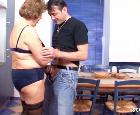 78yr old German Granny Seduce to Fuck by Step Grand Son