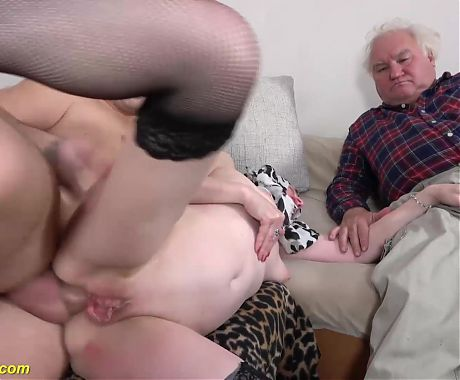 Mom first anal cuckold scene