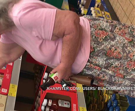 Bbw White Granny Upskirt