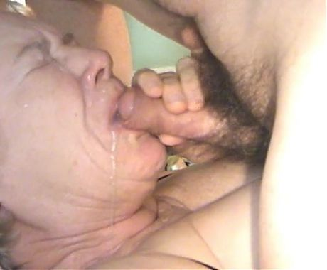 Granny blow cum mouth