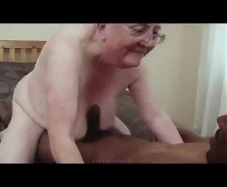 Granny Caroline Fucks Black Cock