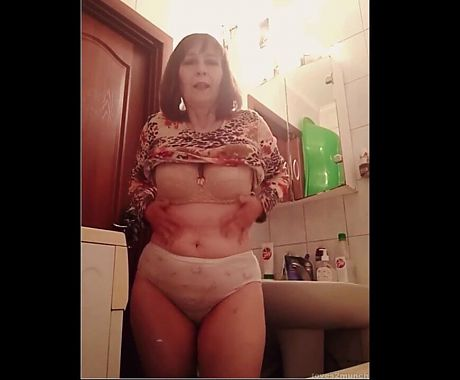 55yo Russian Granny Shows All In Bathroom on Xhamsterlive