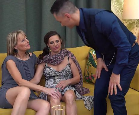Grannies have taboo anal sex threesome