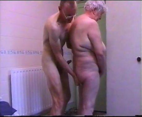 Grandma and grandpa playing