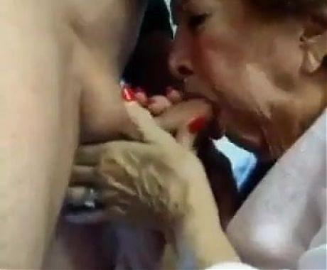 Grandma Gags On Cum In Her Mouth