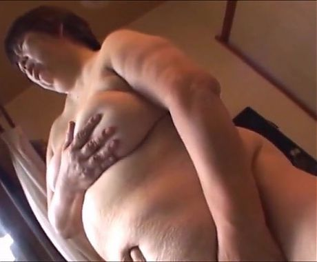 Japanese mature BBW Granny alone at home