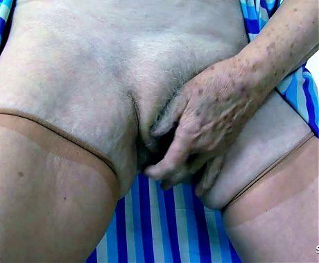 78yr old Granny Gabi has Sex with Big Dick Young Boy