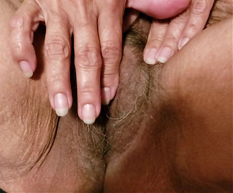 Playing with my hot hairy pussy